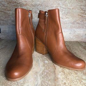 Susina brown heeled booties
